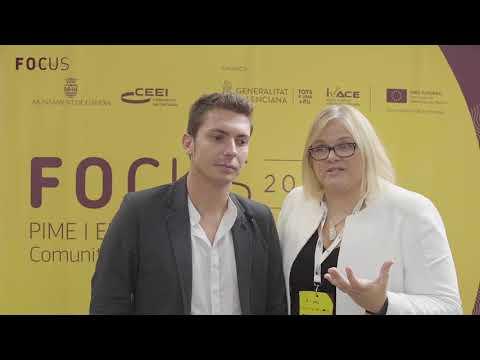 Catalina Hoffmann y Ángel Carrero en Focus Pyme y Emprendimiento Comunitat Valenciana 2018