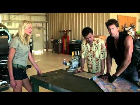 Scenes of Rib Hillis in 'Dinocroc vs Supergator'