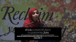 Jewels of the Qur'an ᴴᴰ: Inspirations from those Nearest to Allah - By: Yasmin Mogahed
