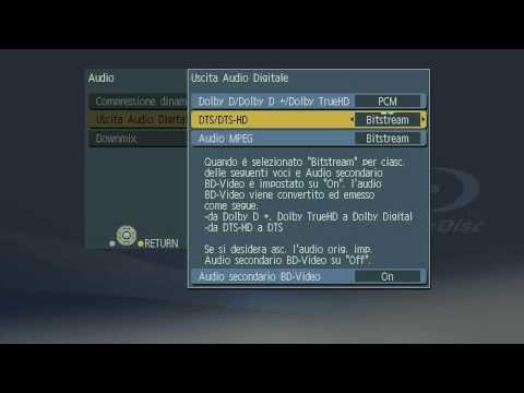 Panasonic DMP-B100 - menu di gestione