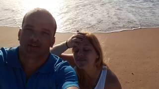 Toninho Bondade e esposa, desejando um bom dia.