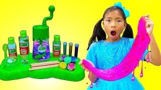 Wendy Pretend Play Make DIY Satisfying Nickelodeon Slime