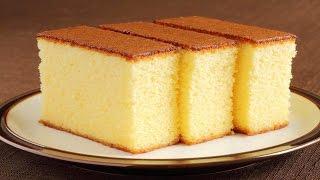 Sponge Cake without Oven  Soft Sponge cake  w/ Eng. Subtitles ; vanilla sponge cake.