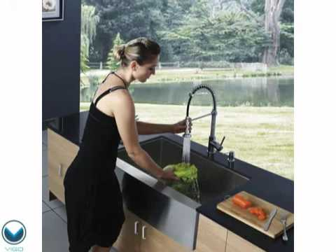 Video for 36-inch Camden Stainless Steel Farmhouse Kitchen Sink