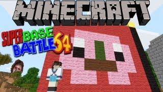 Minecraft PvP: Super Base Battle 64 (Heart VS Fart)