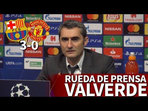 Barcelona 3-0 Man. United | Rueda de prensa de VALVERDE | Diario AS