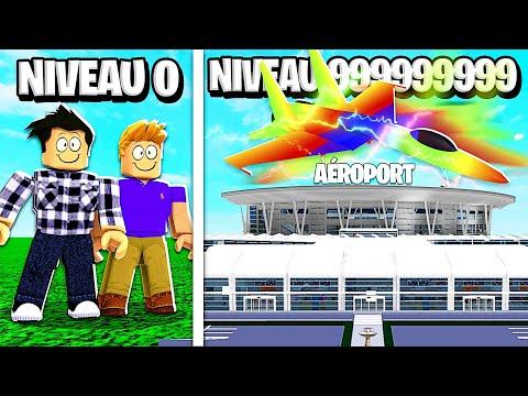 NOTRE AÉROPORT NIVEAU 999,999,999 DANS ROBLOX !