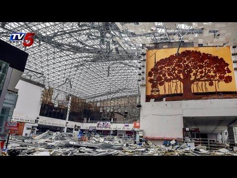After Hudhud Disaster | Vizag Airport Repairing : TV5 News