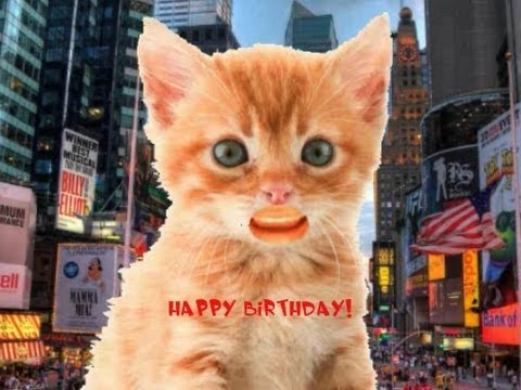 Naked Kitten Sings happy Birthday in Times Square!!!