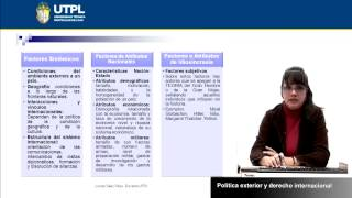 UTPL POLÍTICA EXTERIOR Y DERECHO INTERNACIONAL [(RELACIONES INTERNACIONALES Y GLOBALIZACIÓN)]