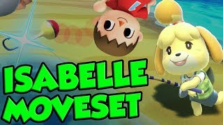 Super Smash Bros. Ultimate ISABELLE Moveset Analysis From A Villager Main! by Verlisify