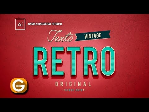 Illustrator Tutorial | Creando Un Texto Retro/Vintage | Creating A Retro/Vintage Text