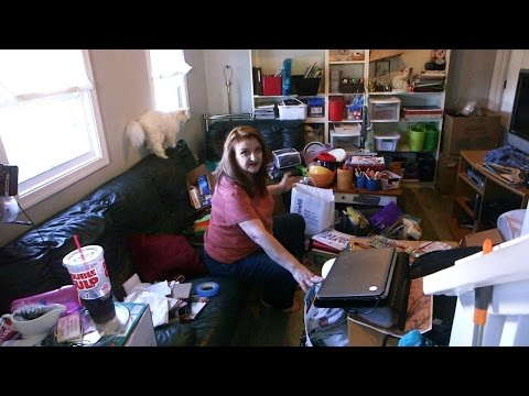 Woman Accused Of Being A Hoarder Gives Tour Of Her House
