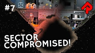 An asteroid has smashed into our Starbound derelict station & compromised the sector in let's play Starbound Haunted Station ep ...