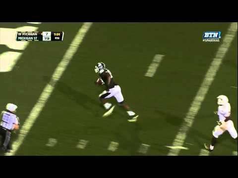 Shilique Calhoun fumble recovery for TD vs Western Michigan 2013 video.