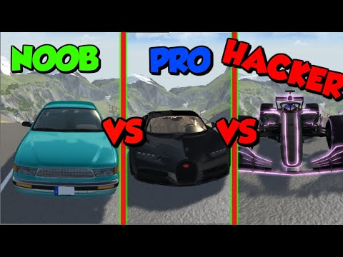 BeamNG Drive - Noob VS Pro VS Hacker 1# (Crashing & Destroying Cars)