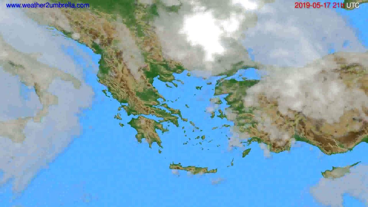 Cloud forecast Greece // modelrun: 00h UTC 2019-05-16