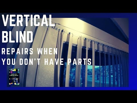 How To Repair Vertical Blinds Broken Stems Gears Not Turning When You Don't Have Parts