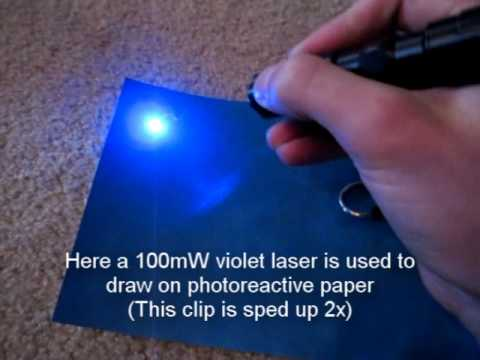 High-Powered Laser Draws on Photo-Sensitive Paper