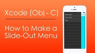 How to Make a Slide Out Menu with Objective-C in Xcode