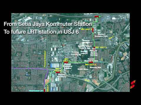 Elevated Bus Rapid Transit (BRT) - Sunway Line (2013)