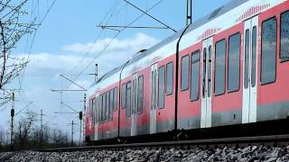 Vecses Hungary  City pictures : Mini footage - Trainspotting in the fields: V43, Flirt (Vecsés, Hungary)