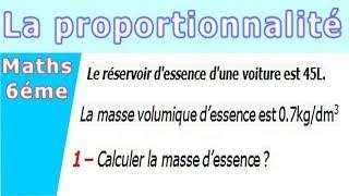 Maths 6ème - La proportionnalité la masse volumique Exercice 2