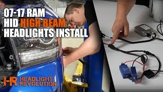 SKIP TO 9:25 FOR ON-VEHICLE DEMONSTRATION. MORE DETAILS BELOW! INSTALL IS THE SAME ON REFLECTOR OR PROJECTOR HEADLIGHTS!Find these kits on our website here:https://headlightrevolution.com/vehicles/dodge-ram/headlights/The Type B CANBUS HID conversion kit is a difficult install, so we broke the install down in two sections: On the table, talking about each part, and on the vehicle. Skip to 9:20 in the video for an on-the-vehicle installation demo.If you have any questions about your install, please email or call us M-F 10am - 5pm Central time.https://headlightrevolution.com/contact-us/