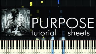 Purpose - Piano Tutorial - How to Play - Justin Bieber