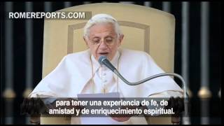 Papa aos participantes do UNIV 2012