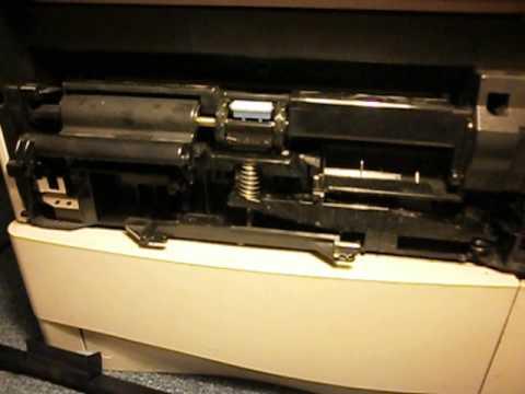 HP Laserjet 4000 Front tray push mechanism!?
