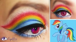 Rainbow Dash My Little Pony Inspired Makeup Eyeshadow Tutorial by EyedolizeMakeup - YouTube