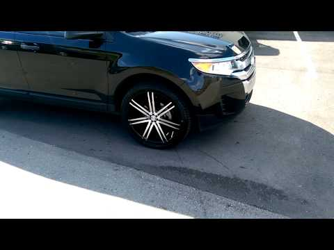 877-544-8473 22 Inch Borghini B20 Black Rims 2014 Ford Edge Review Wheels Miami Hollywood