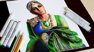 Download Lagu Queen emerald -- Timelapse drawing -- copic markers and prismacolor pencils. Mp3