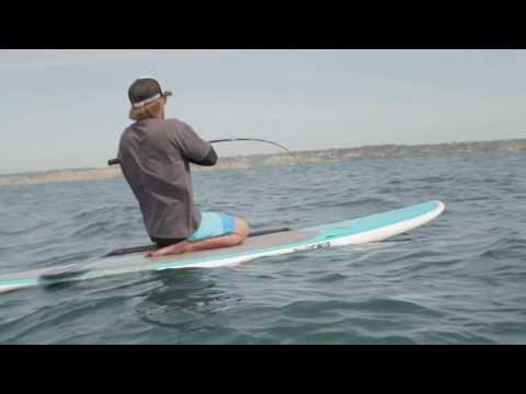 Thresher Shark Fishing off a Hobie Stand Up Paddle Board HD