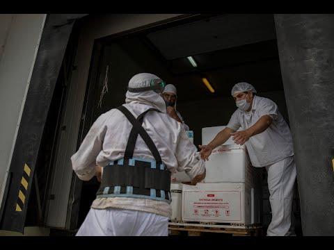 COVID 19 Llegó el segundo lote de vacunas para ser distribuidas en distintos hospitales