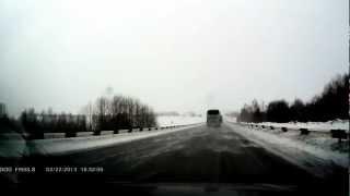 Авария 22 февраля на 691 км трассы М53 + последствия