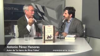 Antonio Pe?rez Henares, autor de 'La tierra de Álvar Fáñez'. 24-9-2014