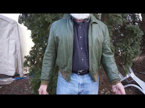 1950s California Sportswear Green Leather Jacket