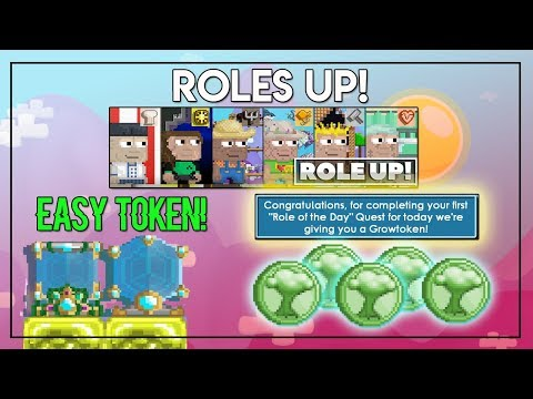EASY GROWTOKEN FROM ROLES UP QUEST! + NEW ITEMS | Growtopia