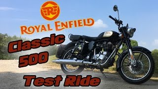 6. Royal Enfield Classic 500 Test Ride