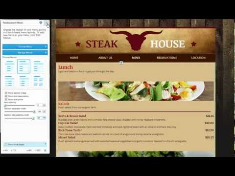 HTML Website Builder | Add Restaurant Menus to your Wix site