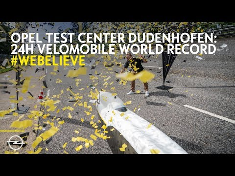 #WeBelieve: New Velomobile World Record at Opel Dudenhofen Track