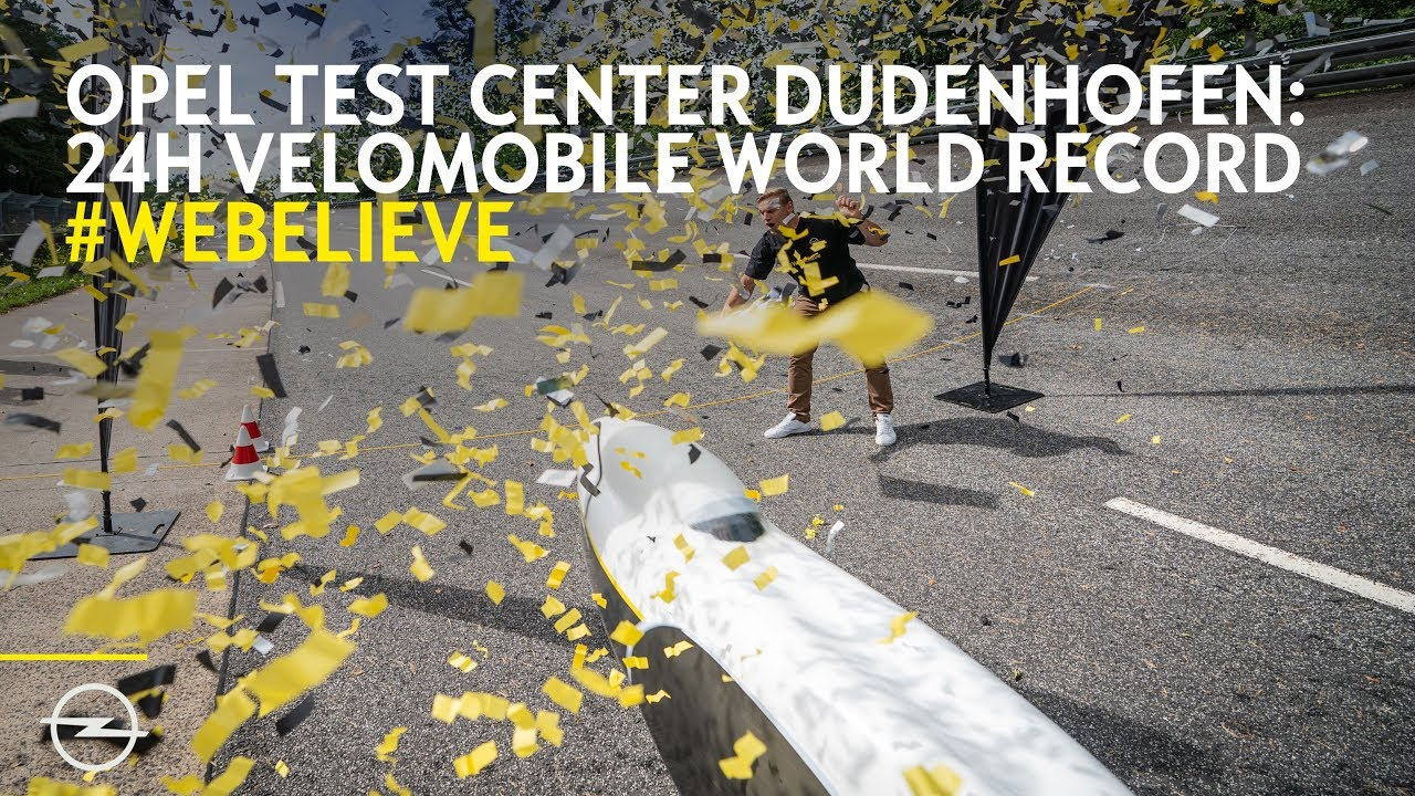 #WeBelieve: New Velomobile World Record at Opel Dudenhofen Track