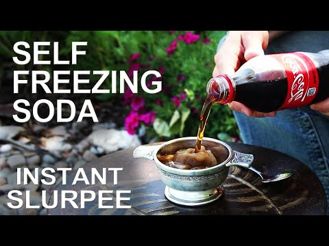 random - Take any bottle of soda, and get it to freeze on command! This
