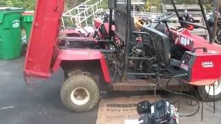 8. Kawasaki Repowered Mule, it rolls, making an engine plate,