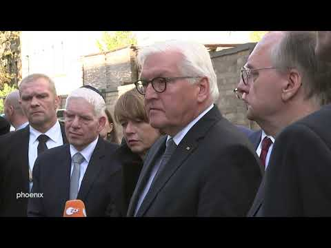 BundesprГsident Steinmeier vor der Synagoge in Halle 10.10.