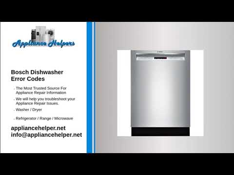 Bosch Dishwasher Error Codes