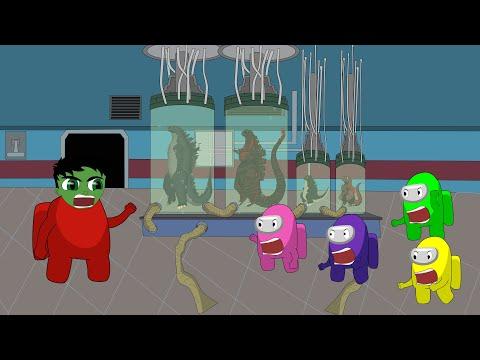 Godzilla vs Shin Godzilla - HULK: Among Us Logic 2 [HD]   Godzilla & Among Us Animation Cartoon