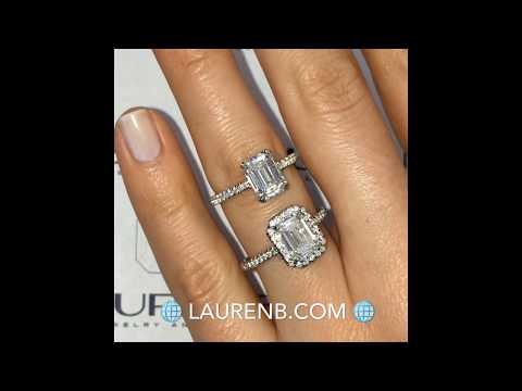 Emerald Cut Diamond Rings: Halo VS Non-Halo
